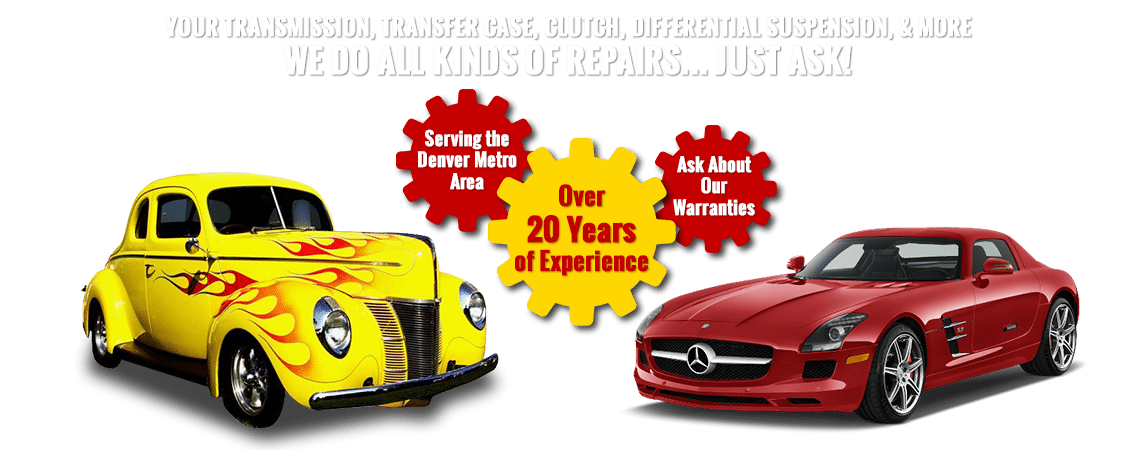 Transmission, transfer case, clutch, and suspension repairs