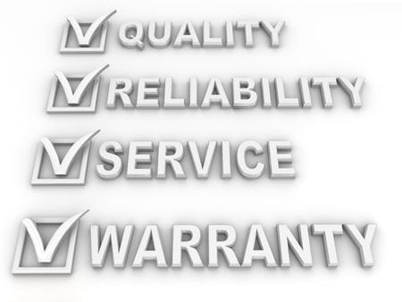 quality, reliability service and warranty
